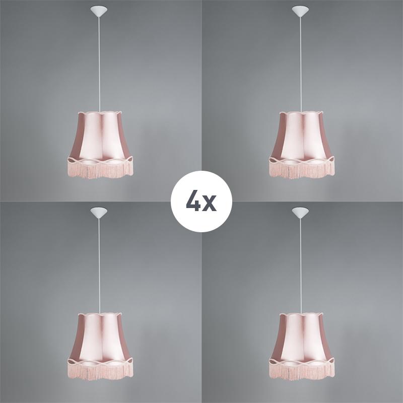 Zestaw 4 x lampa wisząca różowa 45cm - Granny