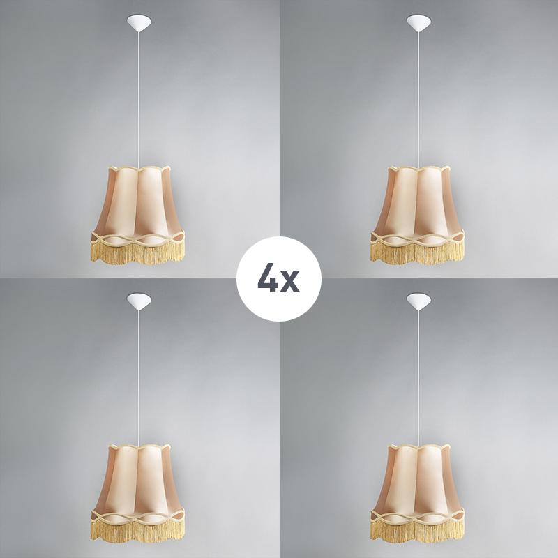 Zestaw 4 x lampa wisząca złota 45cm - Granny