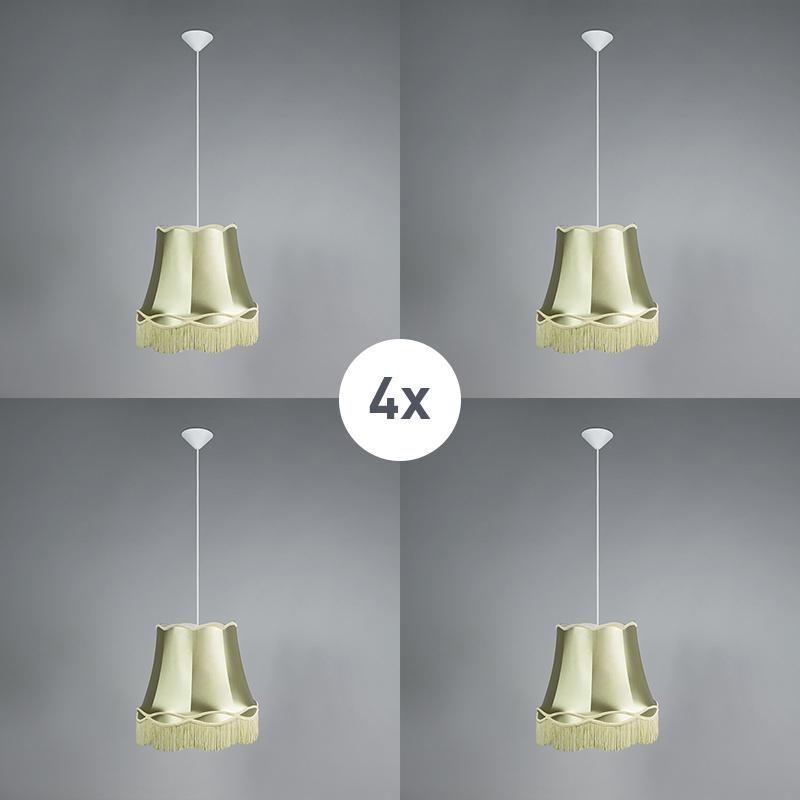 Zestaw 4 x lampa wisząca zielona 45cm - Granny