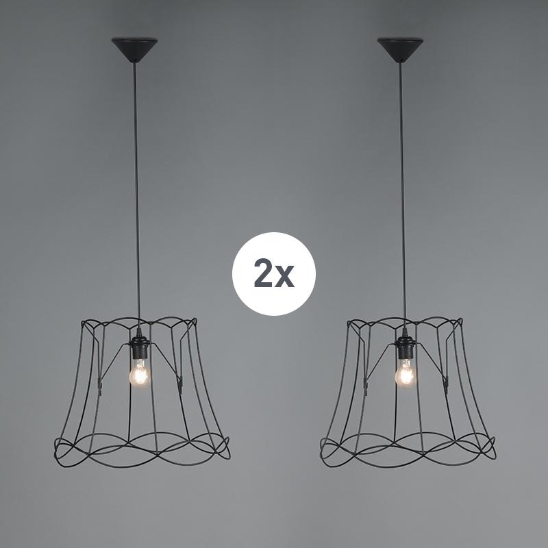Zestaw 2 x lampa wisząca czarna 50m - Granny Frame