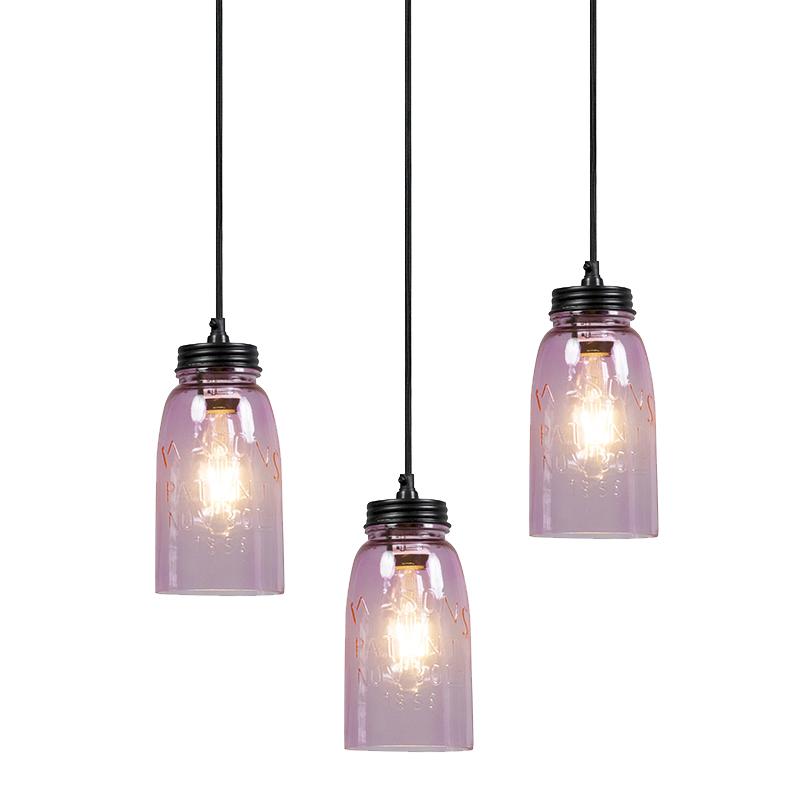Set van 3 hanglampen Masons pastelroze