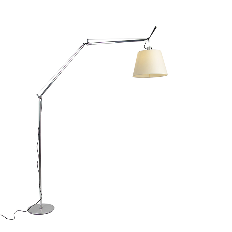 Vloerlamp met kap - Artemide Tolomeo Mega Terra aluminium