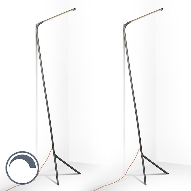 Set van 2 vloerlampen Lazy Lamp grijs
