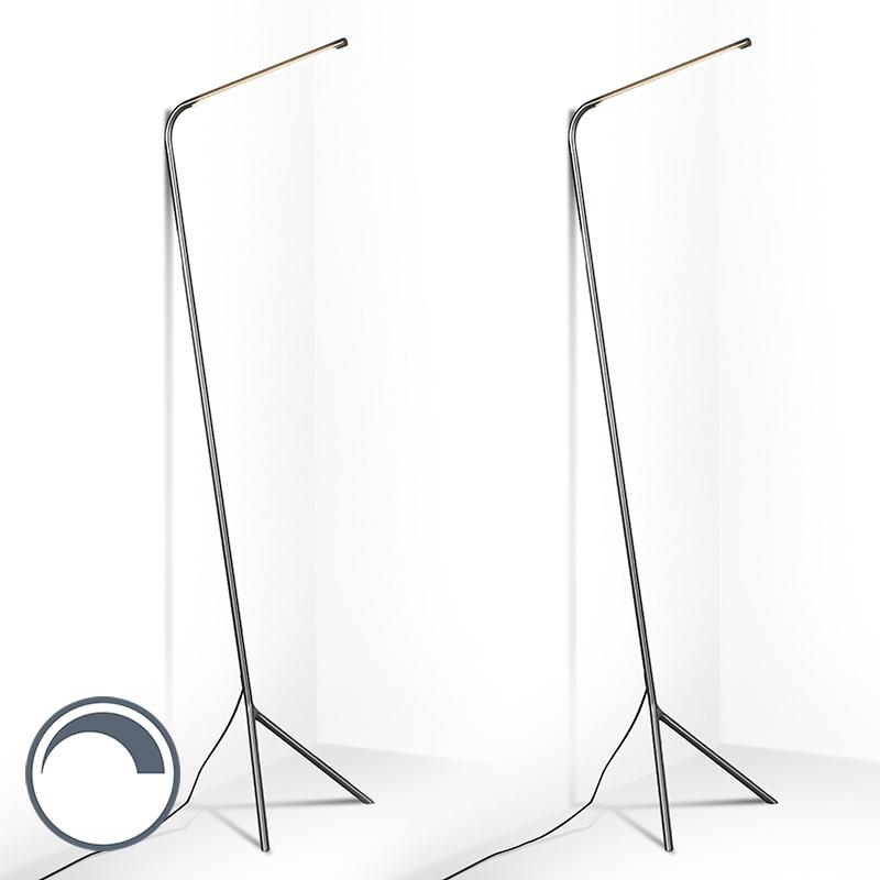 Set van 2 vloerlampen Lazy Lamp staal