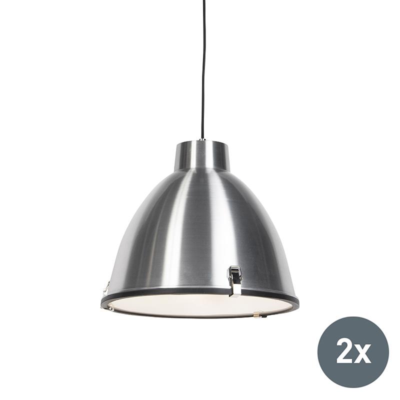 Set van 2 hanglampen Anteros 38 aluminium