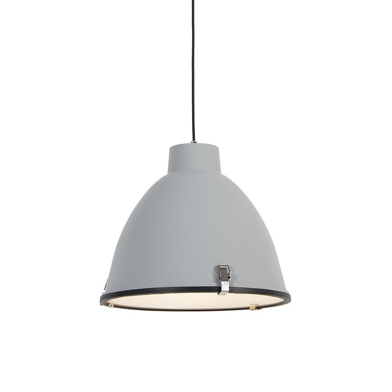 Set van 2 Industriële hanglampen grijs 38 cm dimbaar - Anteros