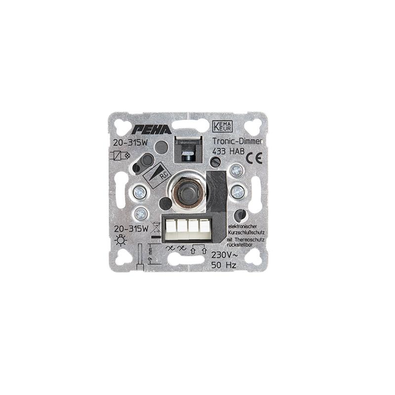 PEHA by Honeywell D 433 HAB O.A. Dimmer Inzetstuk Aluminium