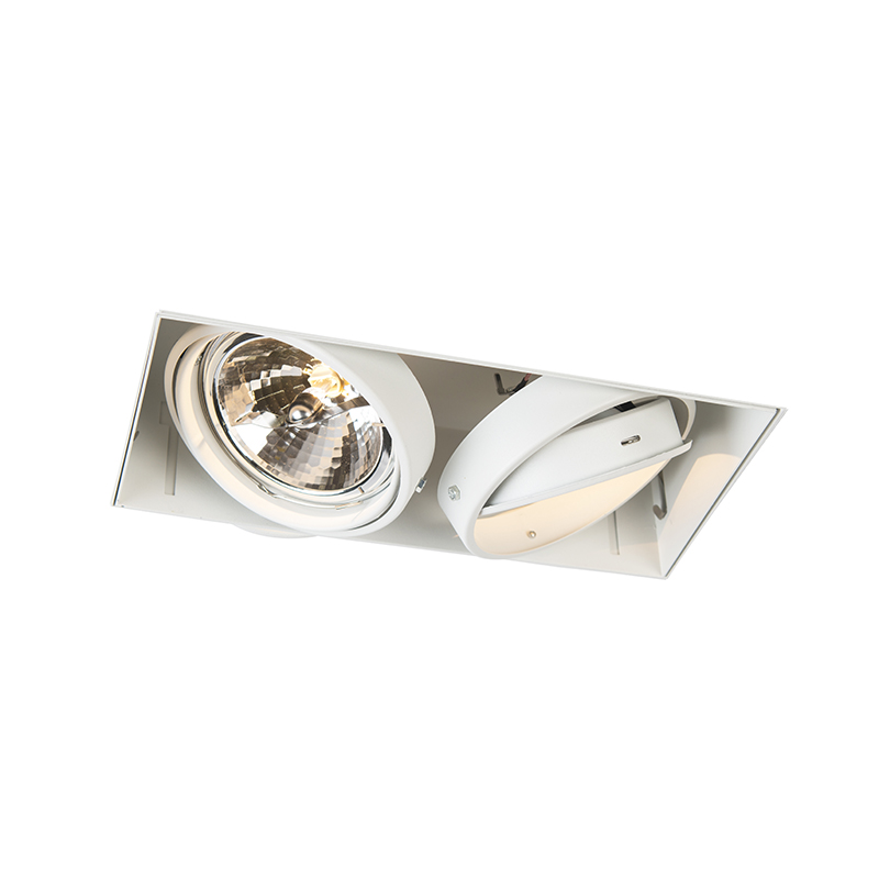 Moderne inbouwspot wit AR111 trimless - Oneon 2