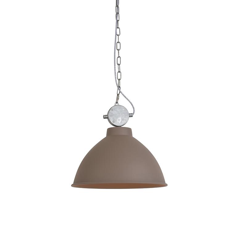 Set van 2 industriële hanglampen bruin - Anterio 38