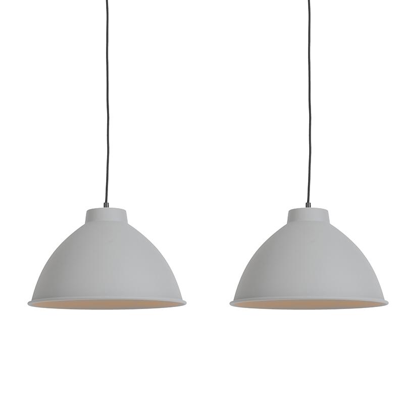Set van 2 Scandinavische hanglampen grijs - Anterio 38 Basic