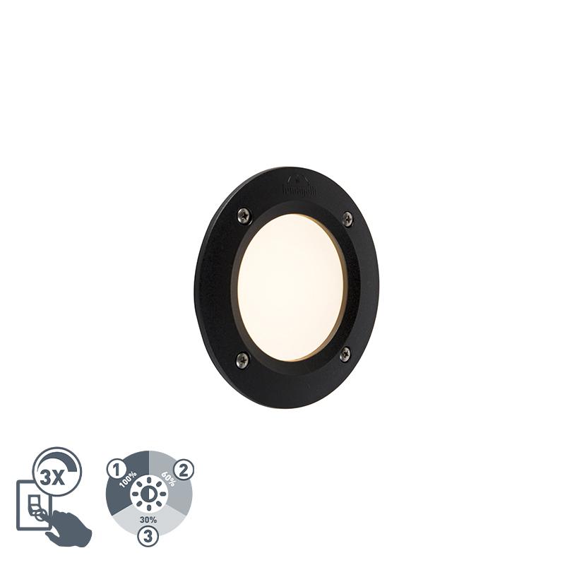 Moderne buiten wandspot zwart incl. LED IP65 - Leti