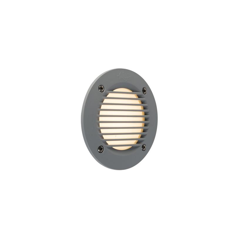 Modern ronde buiten wandinbouwlamp grijs incl. LED 3000K IP65 - Leti