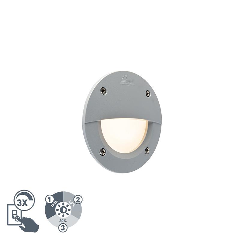 Moderne buitenwandspot grijs incl. LED IP65 - Leti