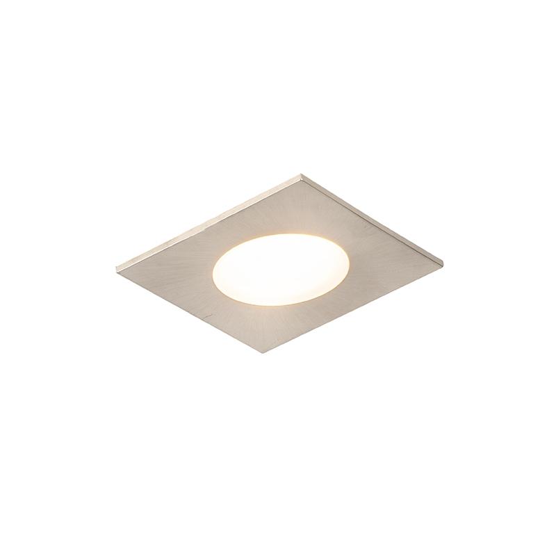 Nowoczesna oprawa do wbudowania kwadratowa stal LED IP65 - Simply