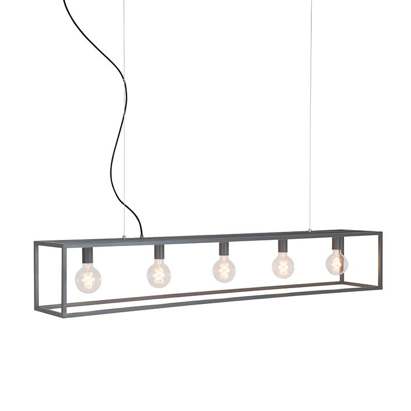 Industriële hanglamp grijs 5-lichts - Cage