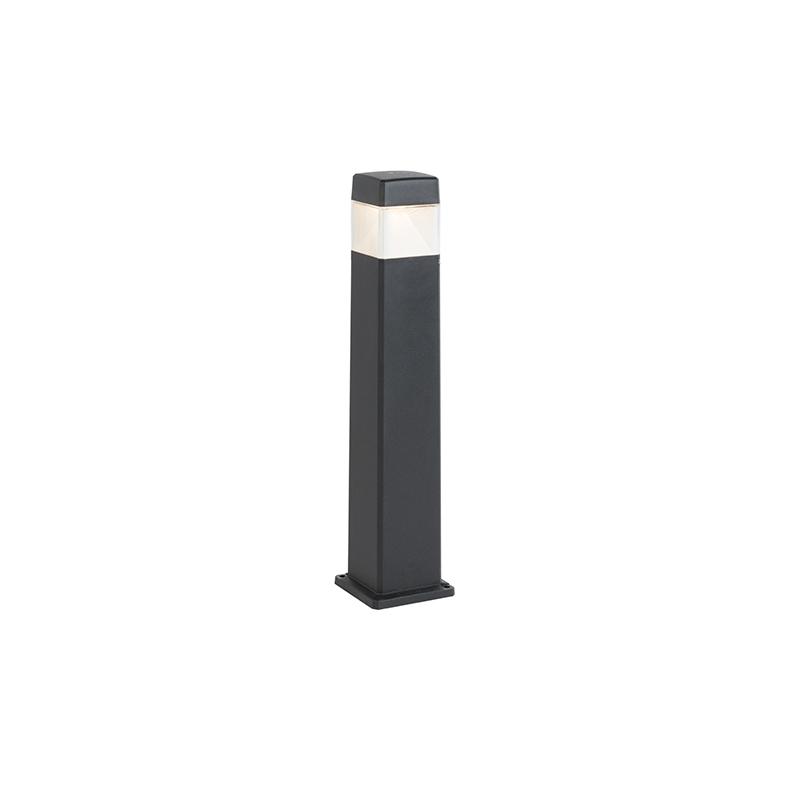 Moderne buitenpaal zwart 80 cm incl. LED IP55 - Elisa