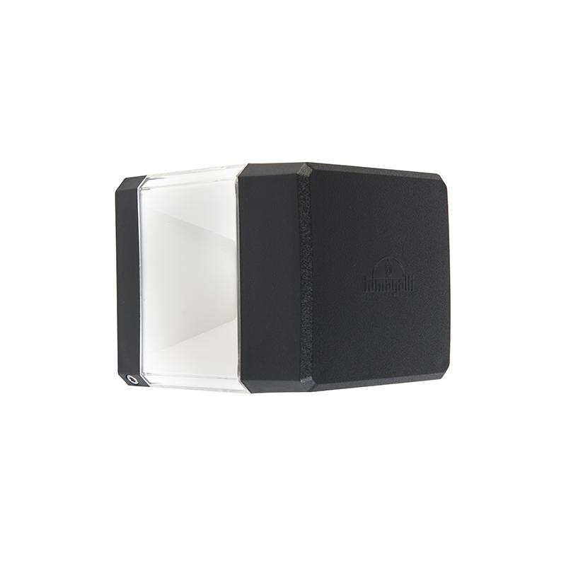 Moderne vierkante buitenwandlamp zwart incl LED IP55 - Elisa