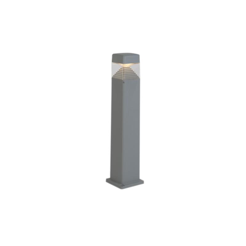Moderne buitenpaal grijs 80 cm incl. LED IP55 - Ester