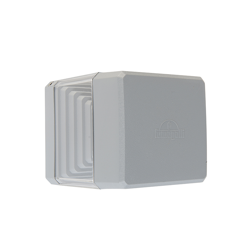 Moderne vierkante buitenwandlamp grijs incl. LED 3000K IP55 - Ester