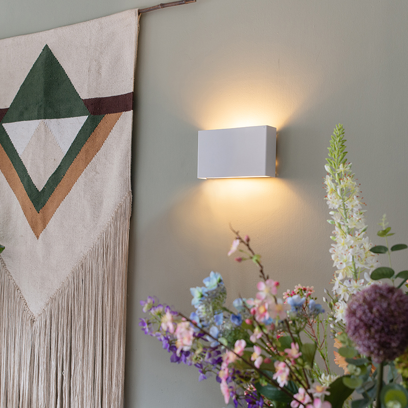 Moderne wandlamp wit - Otan