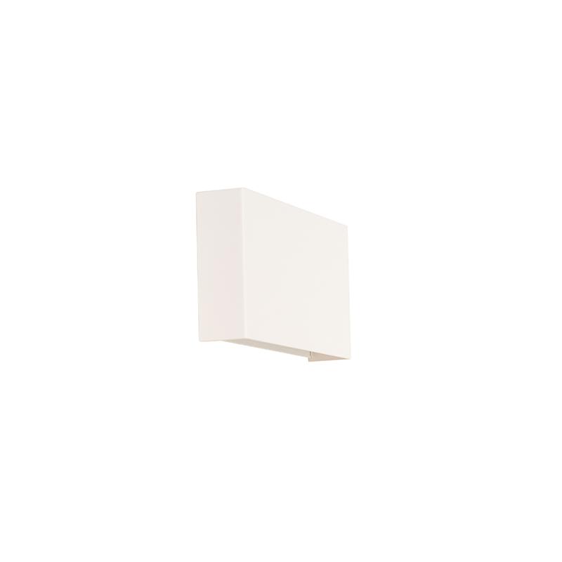 Moderne rechthoekige wandlamp wit - Otan