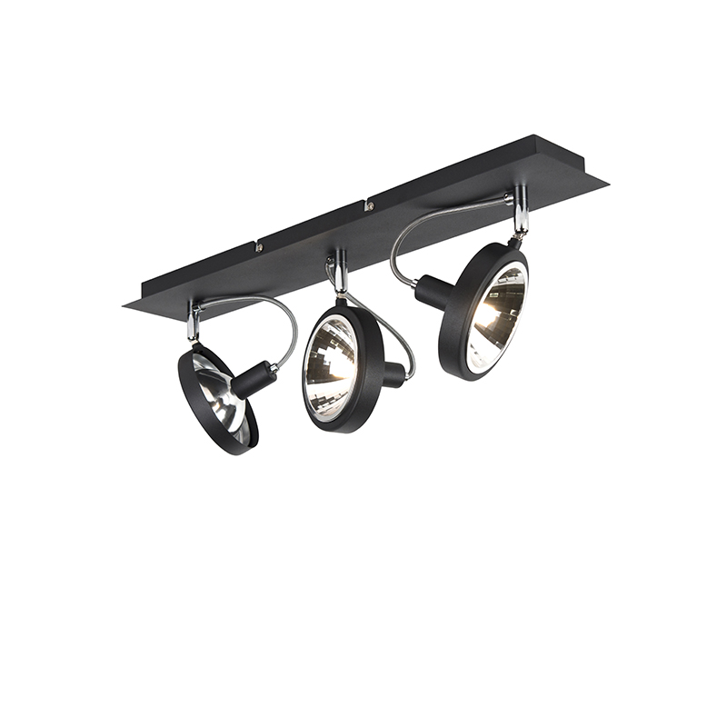 Designerski spot czarny regulowany 3-źródła światła - Nox