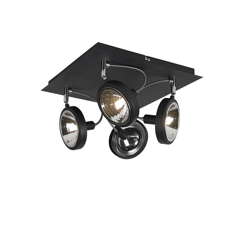 Design spot zwart 4-lichts verstelbaar - Nox