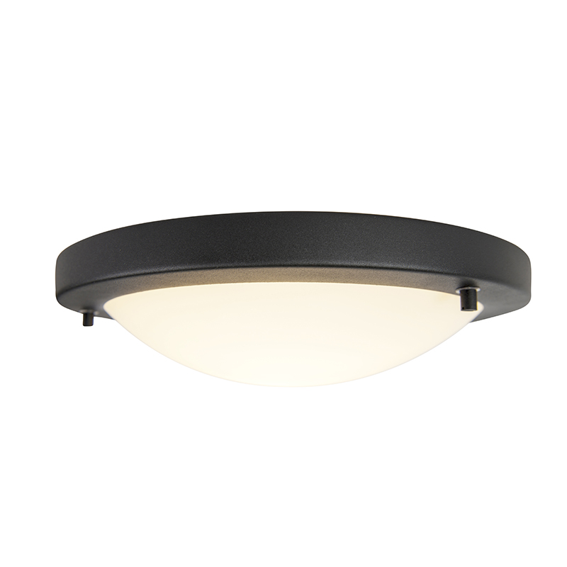 Moderne ronde badkamer plafonniere zwart – Yuma 31