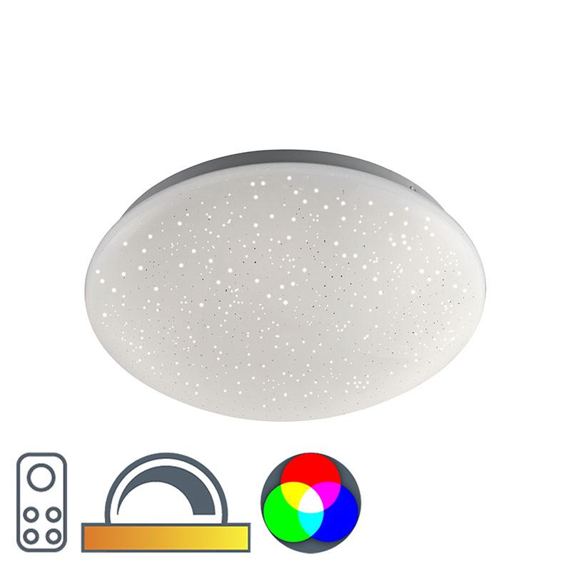 Moderne plaffoniere wit met stereffect incl. LED - Bex