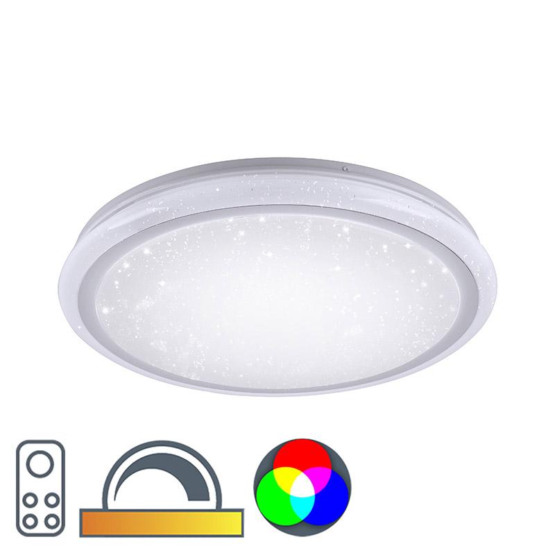 Moderne plafonnière wit 40 cm incl. RGB LED Mars