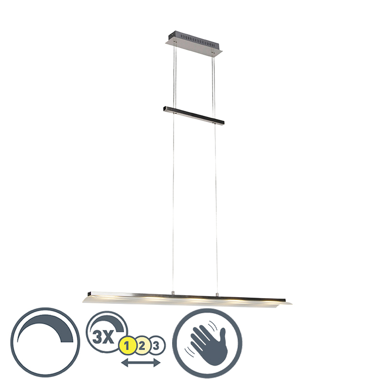 Design hanglamp staal incl. LED dimbaar en verstelbaar- Rom