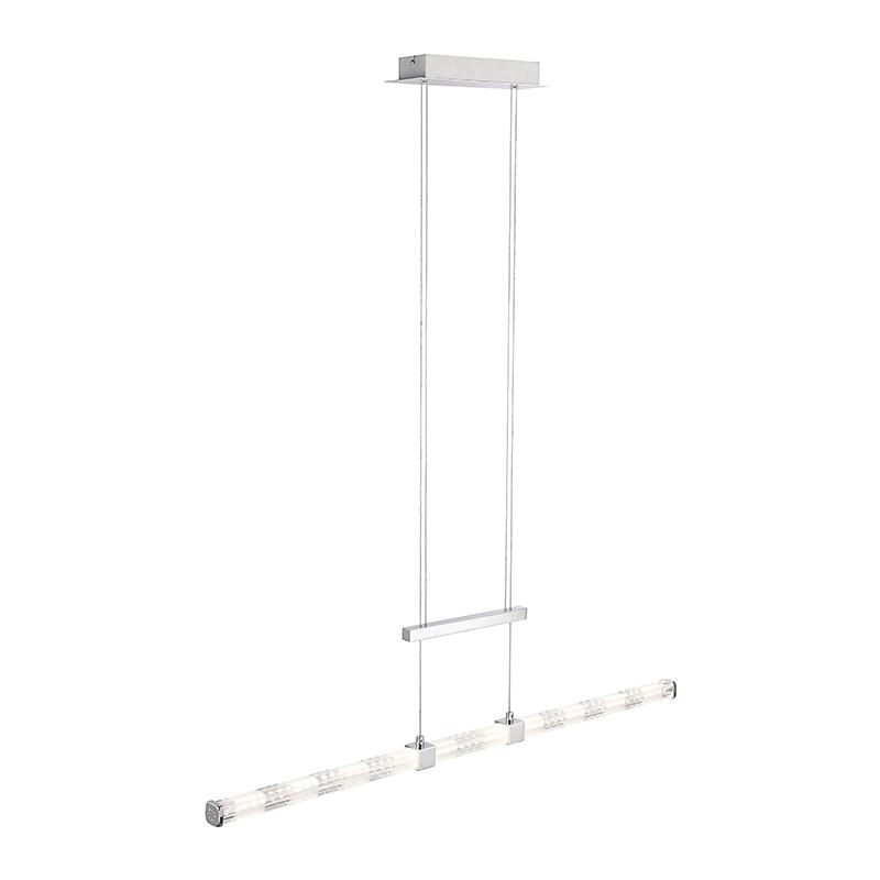Moderne rechte hanglamp chroom incl. LED - Kanika