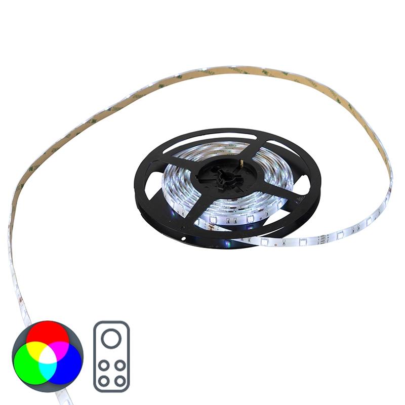 Moderne LED strip 5m multicolor - Teania