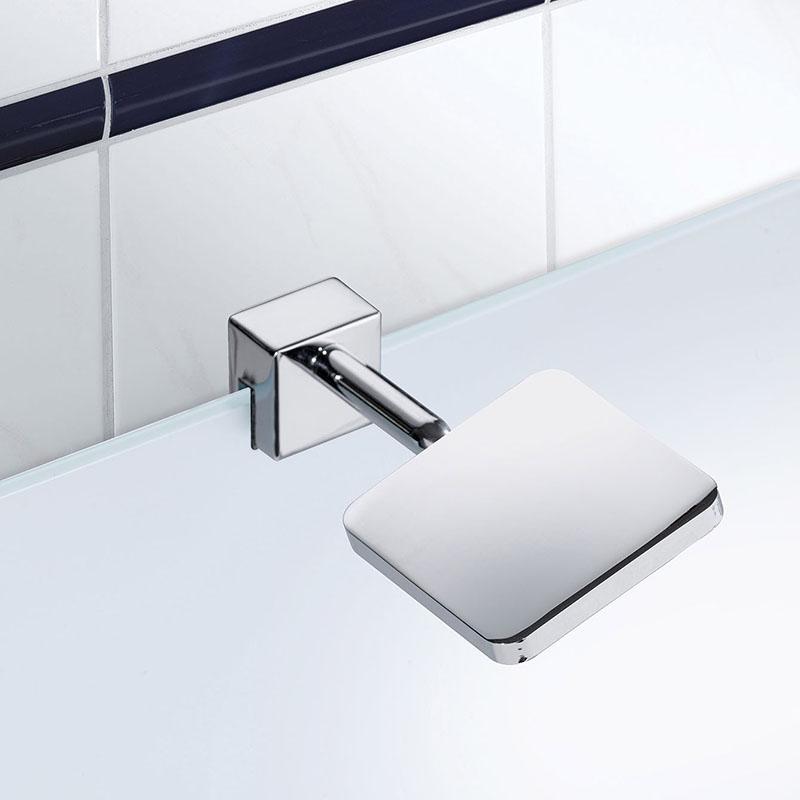 Moderne vierkante badkamerklemlamp chroom incl. LED- Obed