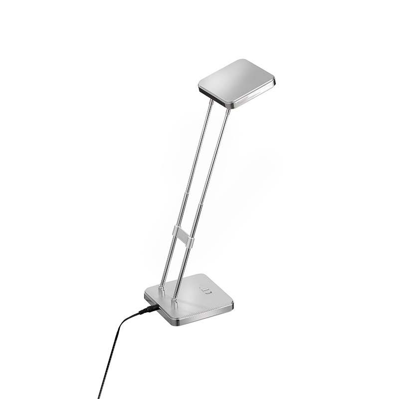Moderne rechte tafellamp staal incl. LED - Kita