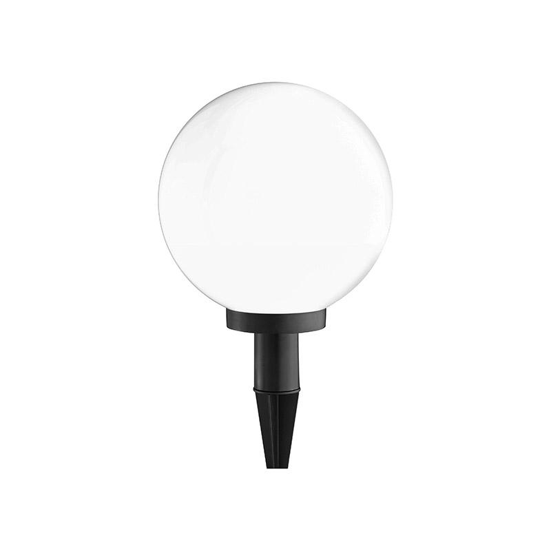 Moderne ronde buitenlamp wit met grondpin - Kira