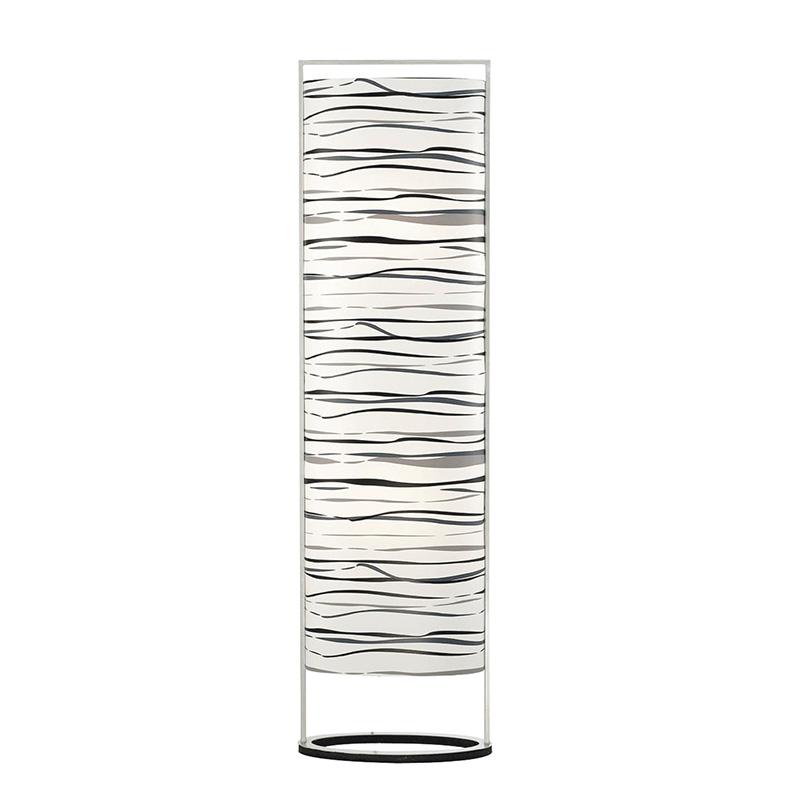 Design rechte vloerlamp staal met zebra print - Sign