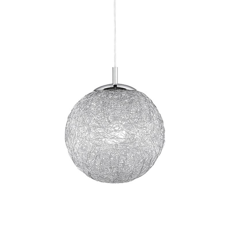 Moderne bolvormige hanglamp 30cm van aluminium draad - Womble