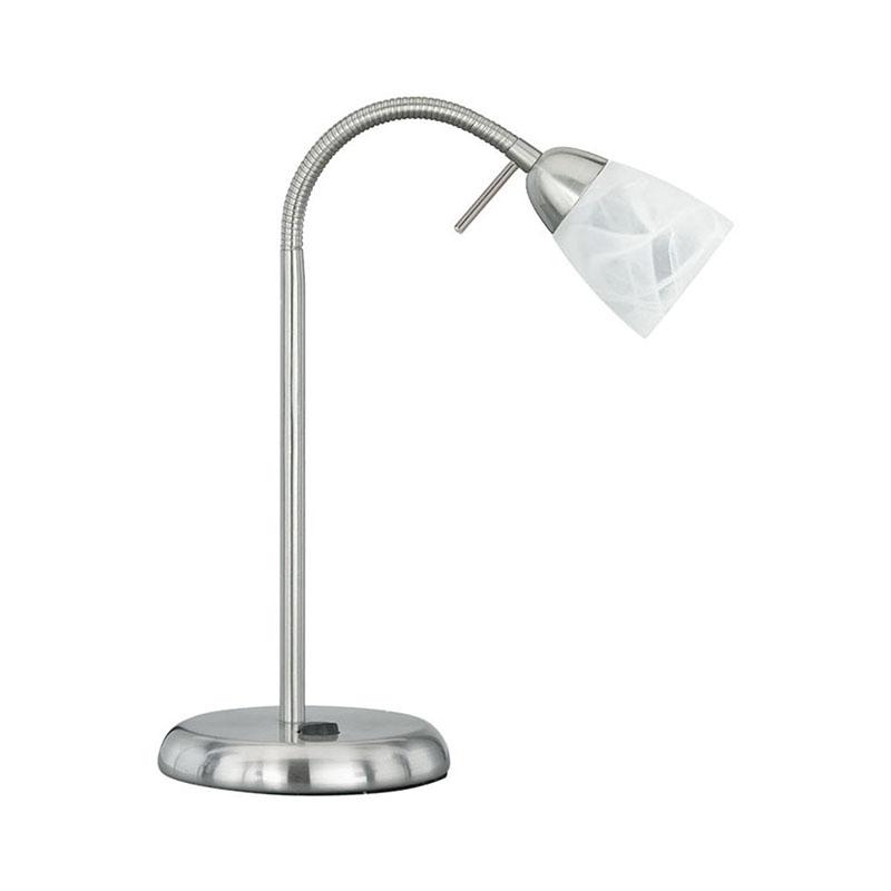 Moderne rechte tafellamp staal met verstelbare arm - Arcadia