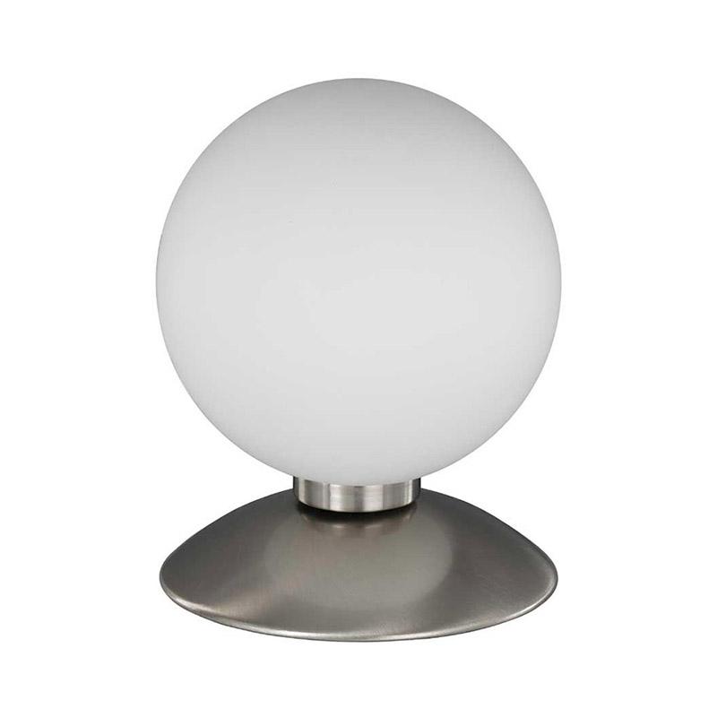 Moderne bolvormige tafellamp staal met glas - Bubba