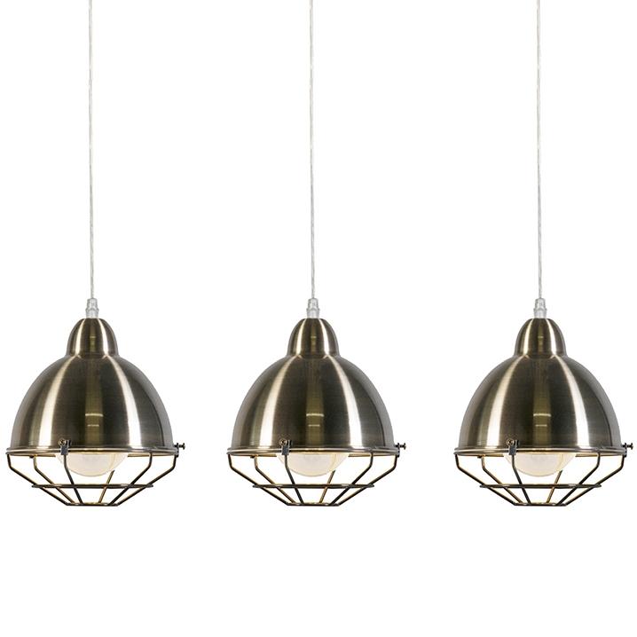 Set van 3 hanglampen Toll 3 goud
