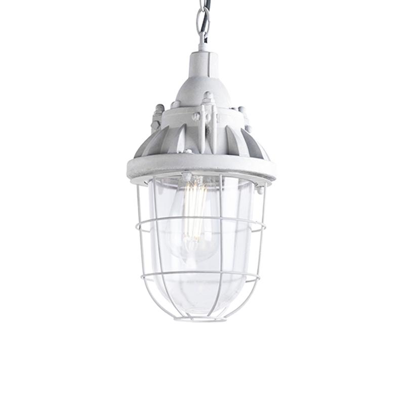Set van 3 industriële hanglampen grijs - Cabin