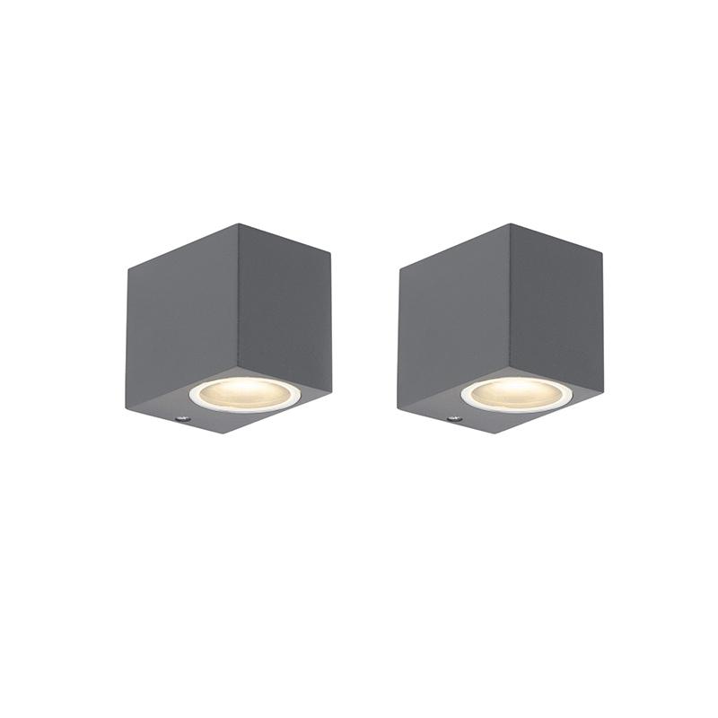 Set van 2 moderne wandlampen antraciet IP44 - Baleno I