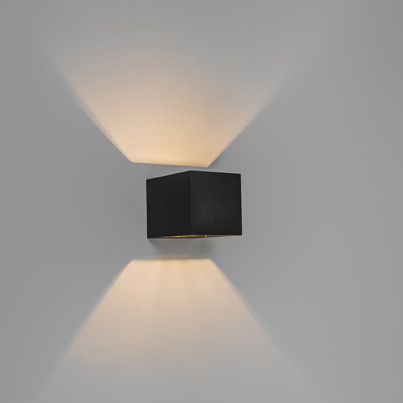 Set van 2 moderne wandlampen zwart - Transfer