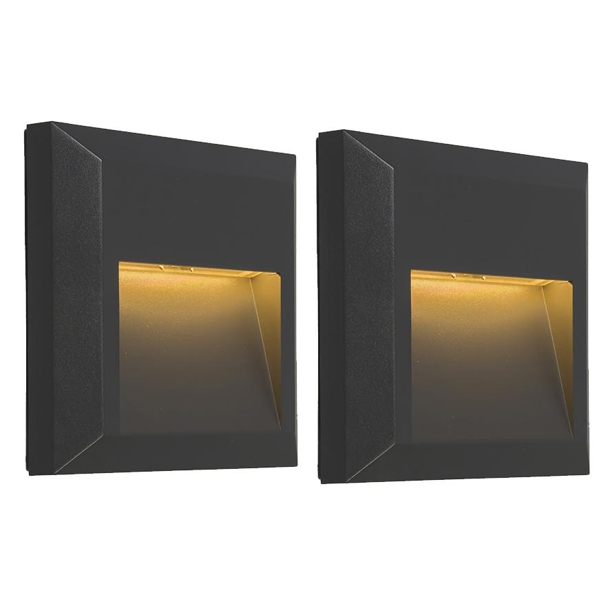 Set van 2 moderne wandlampen donkergrijs - Gem 2