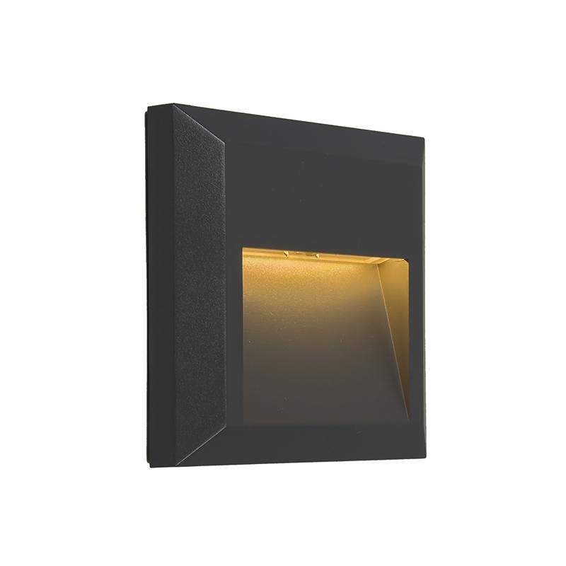 Set van 2 moderne wandlampen donkergrijs incl. LED - Gem 2