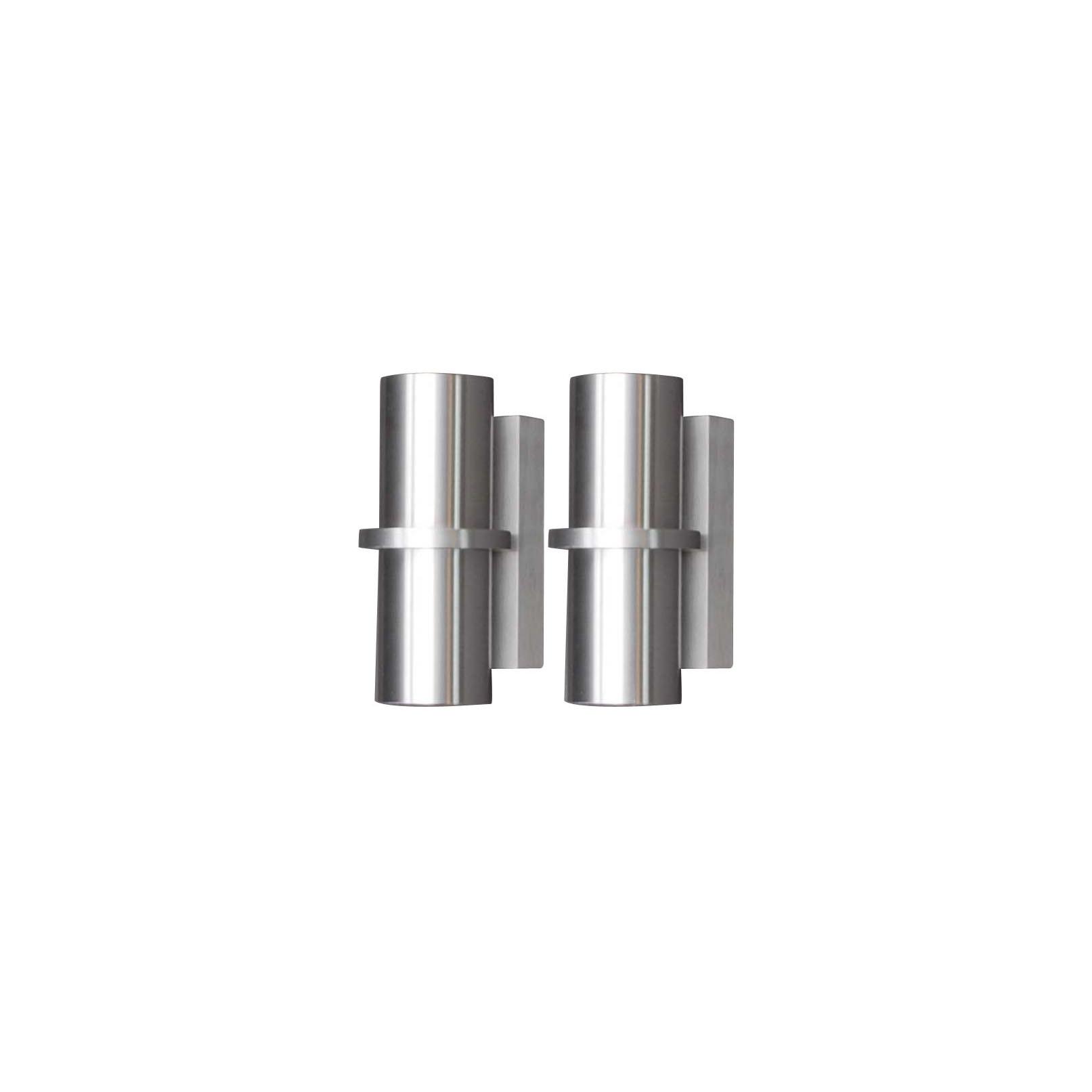 Set Van 2 Wandlampen Bas Aluminium