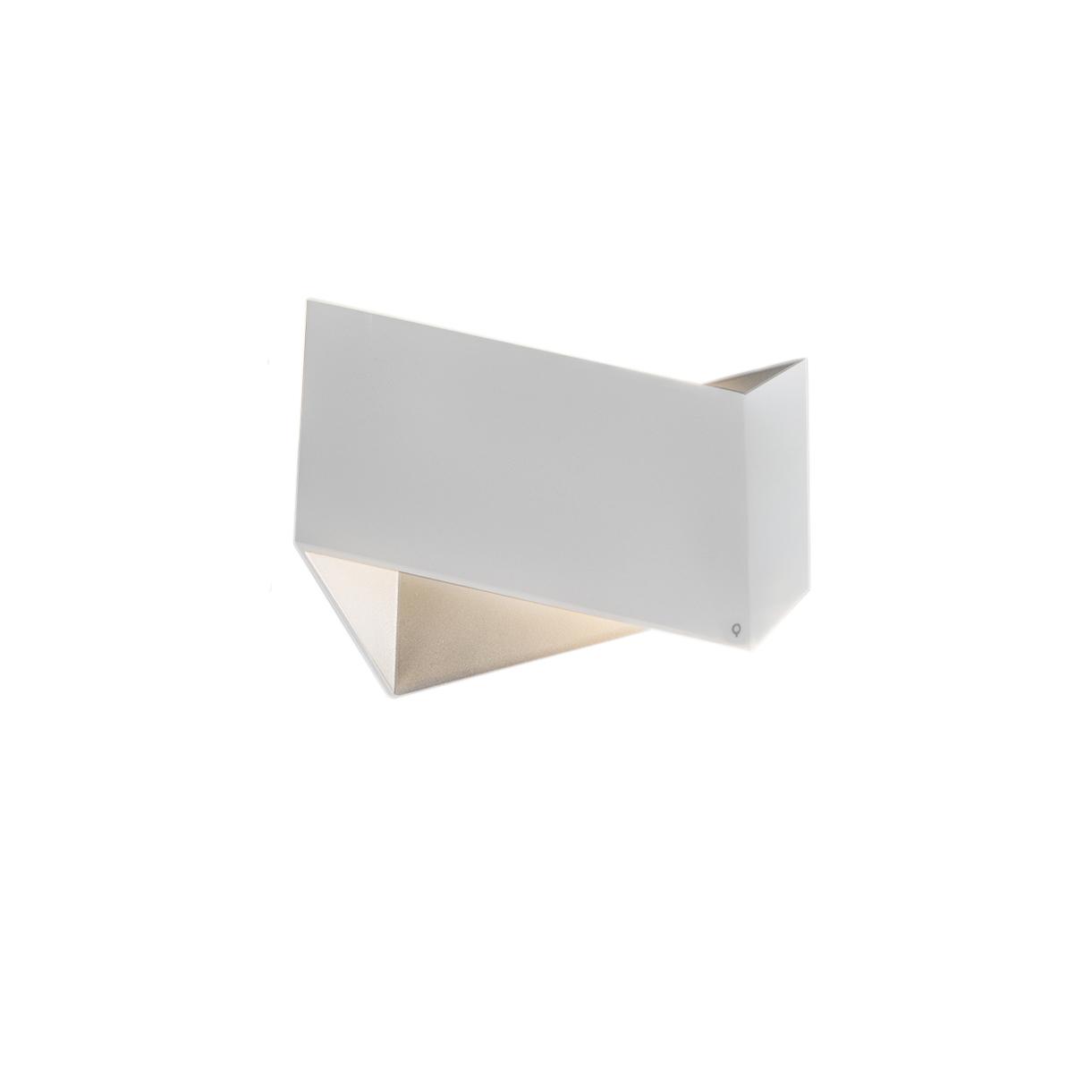 Set van 2 design wandlampen wit - Fold