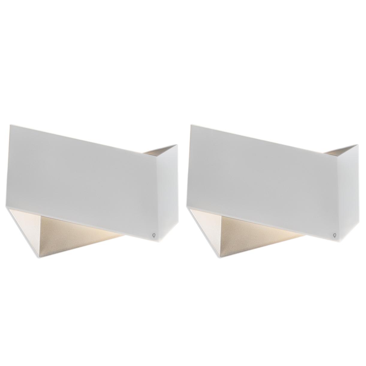Zestaw 2 x designerski kinkiet biały - Fold