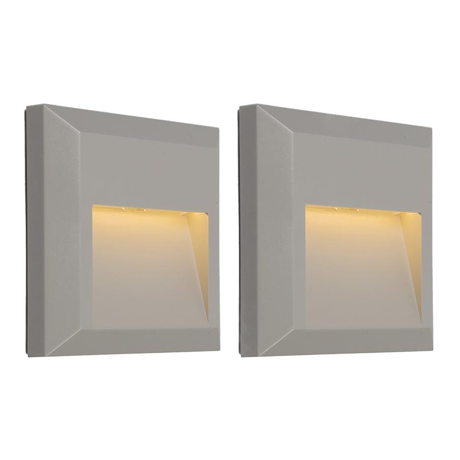 Set van 2 wandlampen Gem 2 lichtgrijs
